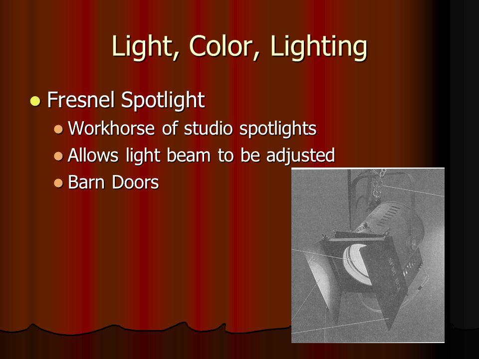 Light, Color, Lighting Fresnel Spotlight