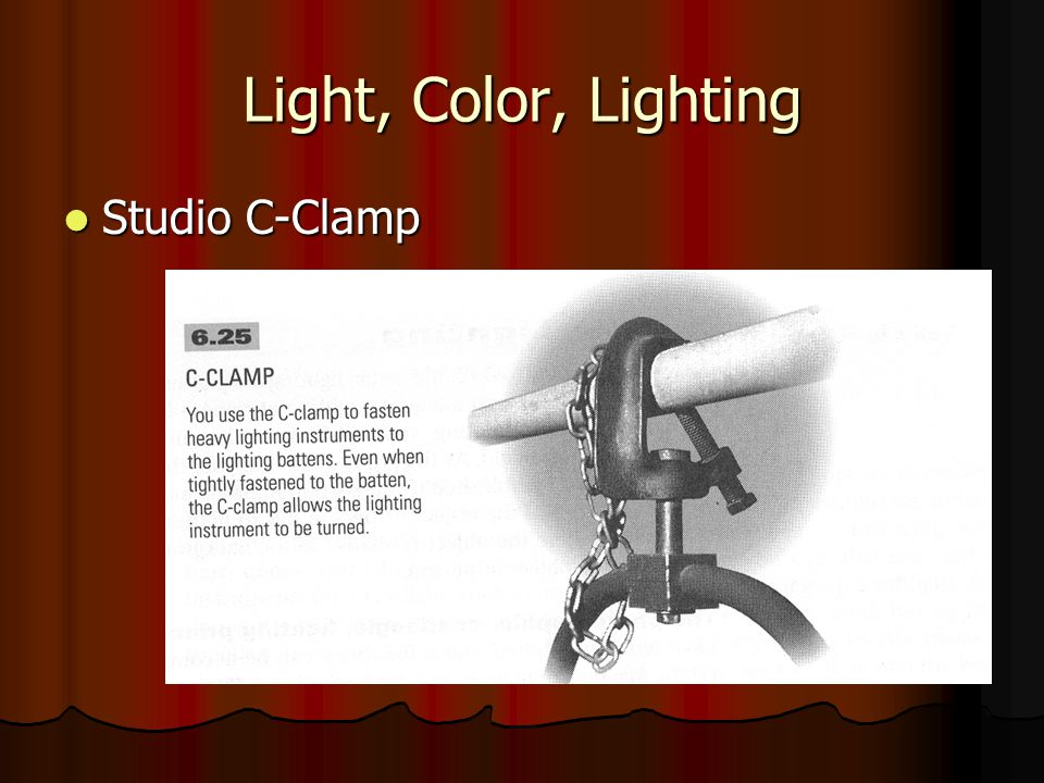 Light, Color, Lighting Studio C-Clamp