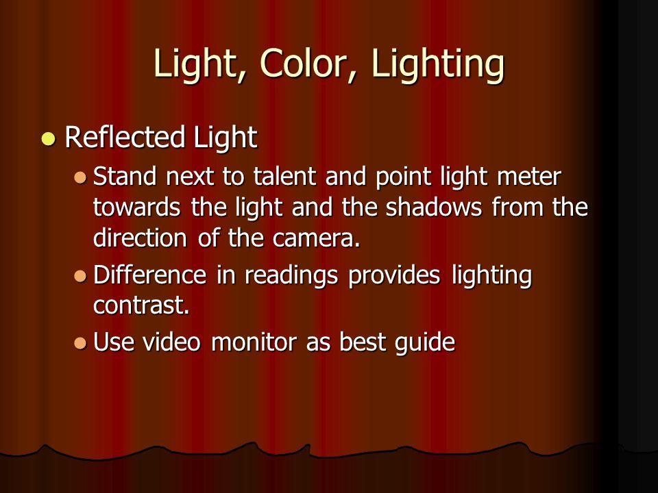 Light, Color, Lighting Reflected Light