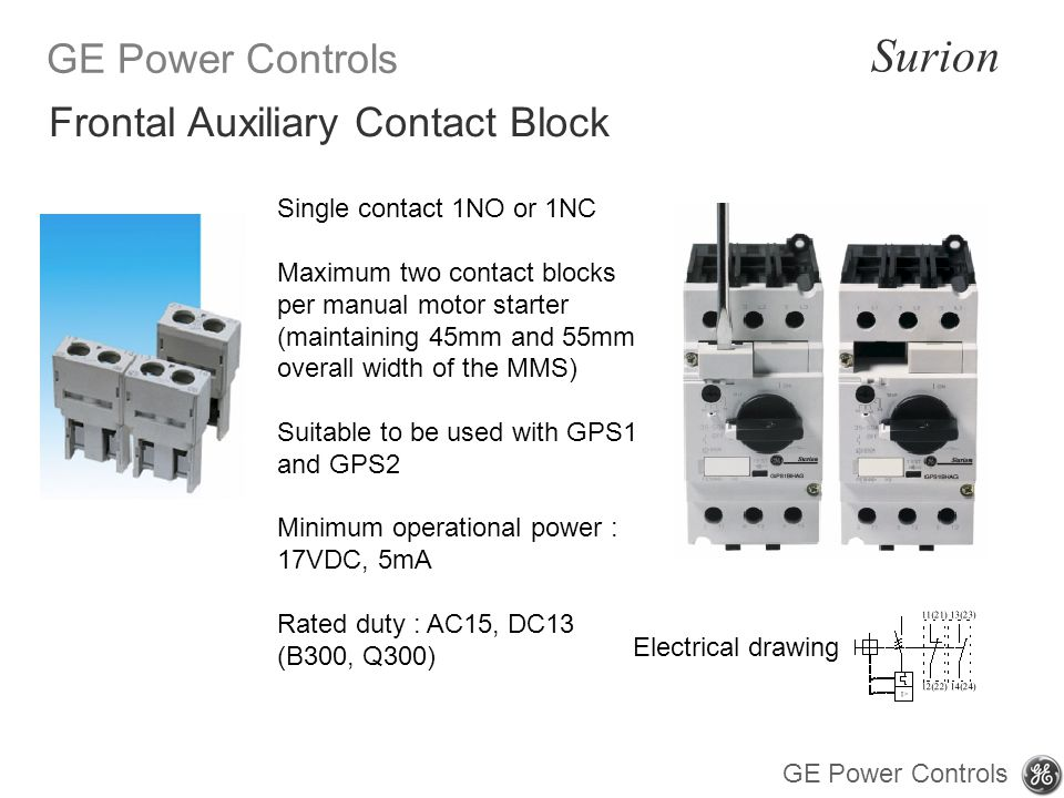Frontal Auxiliary Contact Block