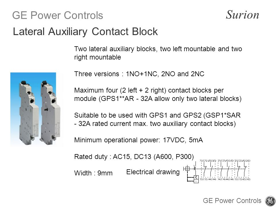 Lateral Auxiliary Contact Block