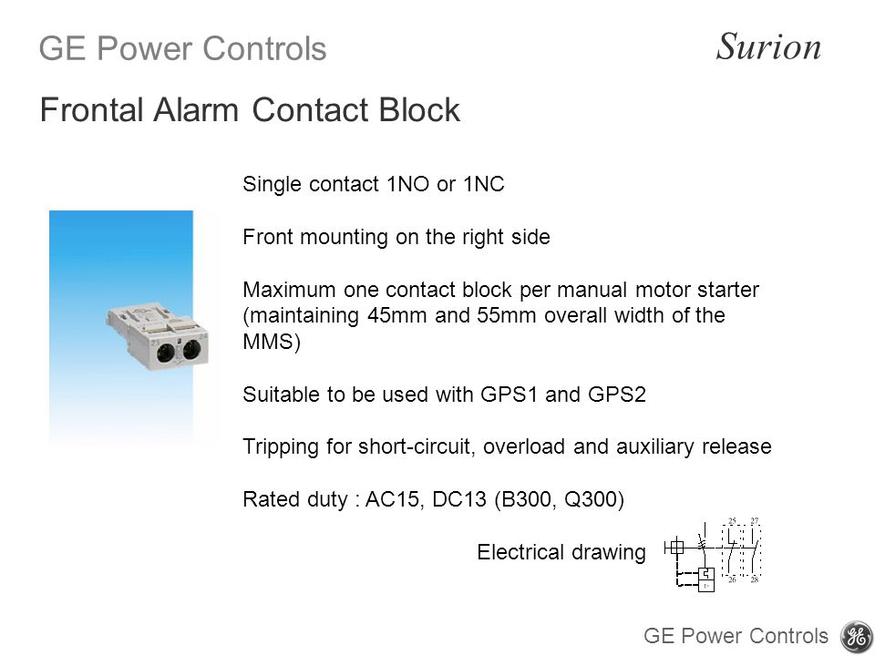 Frontal Alarm Contact Block