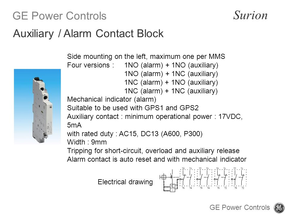 Auxiliary / Alarm Contact Block