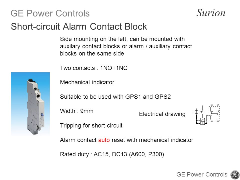 Short-circuit Alarm Contact Block
