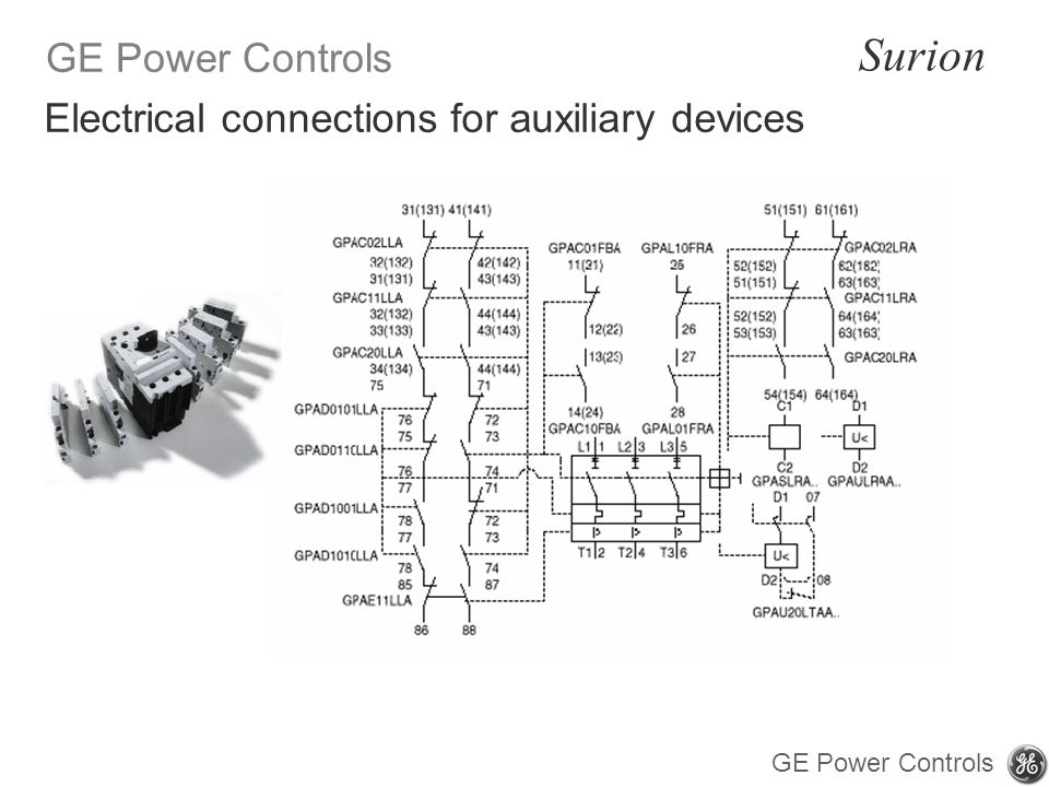 Electrical connections for auxiliary devices