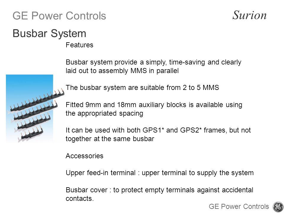 Busbar System Features