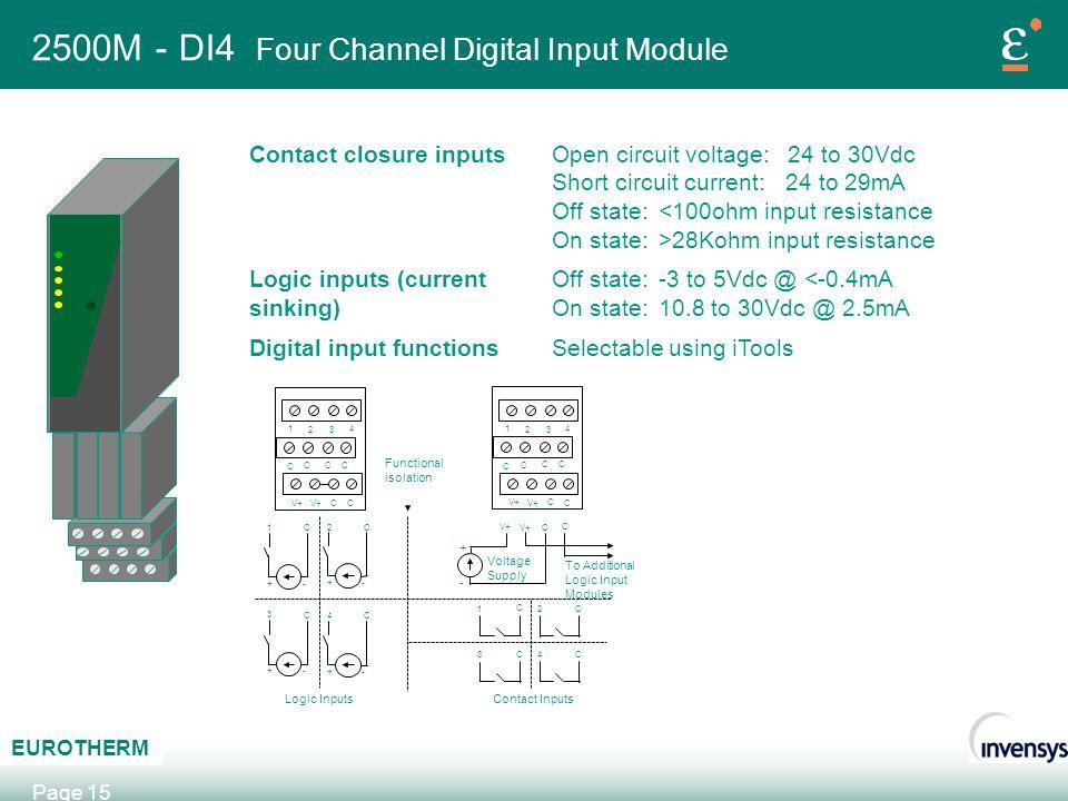 2500M - DI4 Four Channel Digital Input Module