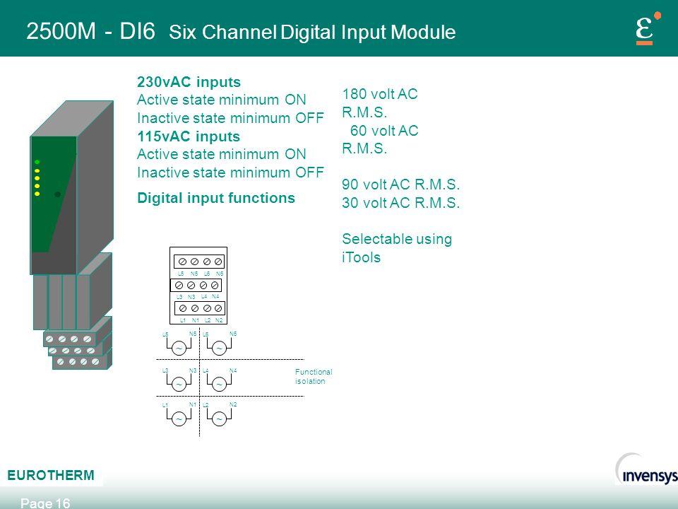 2500M - DI6 Six Channel Digital Input Module