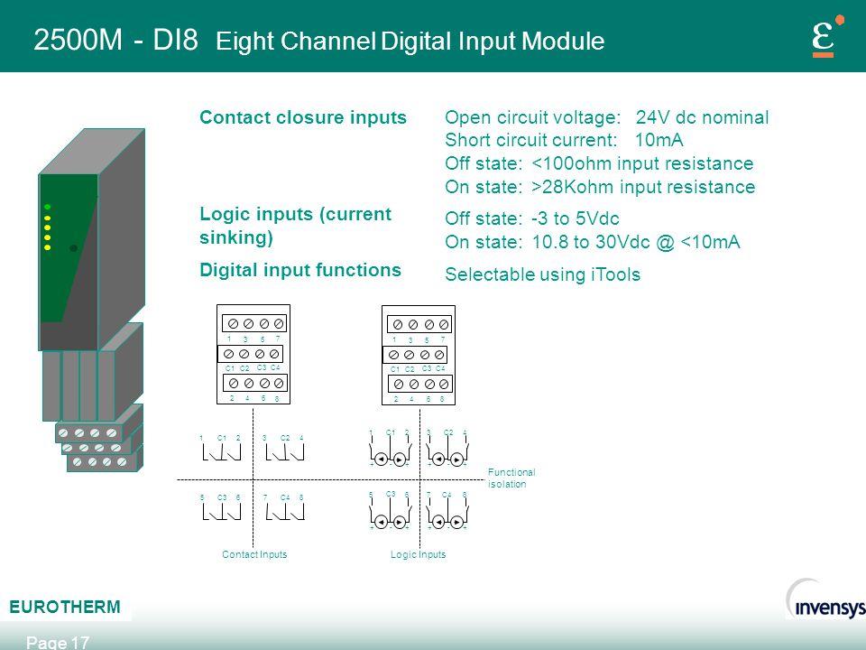 2500M - DI8 Eight Channel Digital Input Module