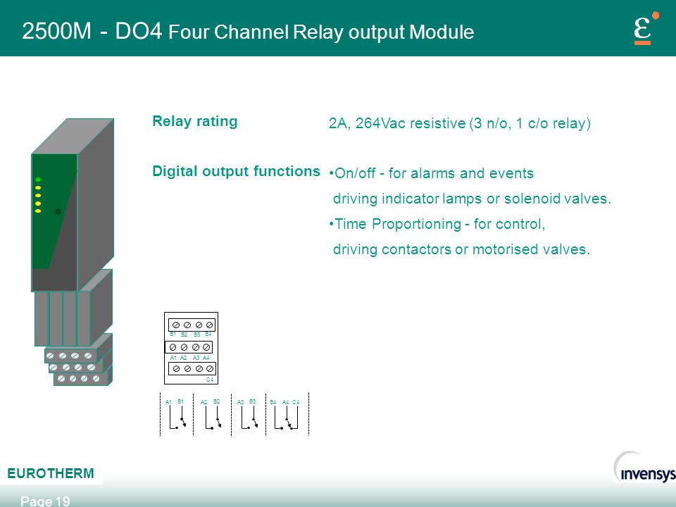 2500M - DO4 Four Channel Relay output Module