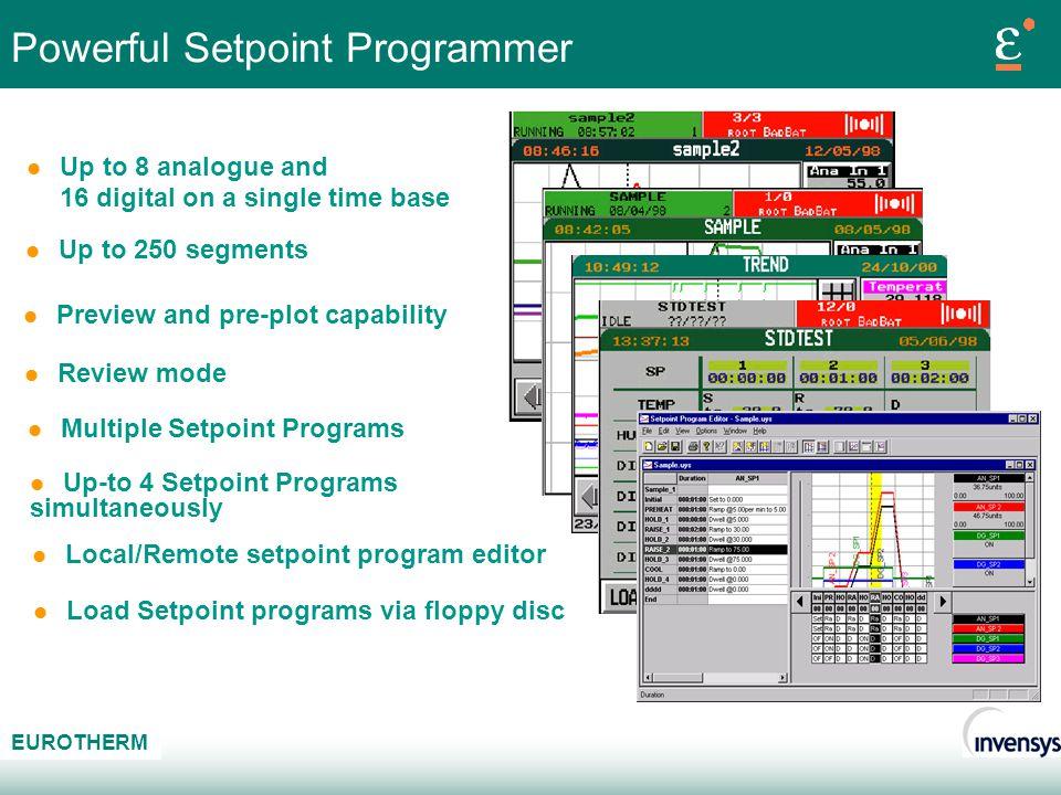 Powerful Setpoint Programmer