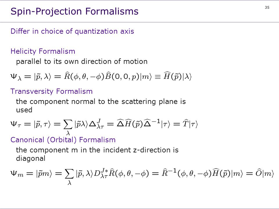 Spin-Projection Formalisms