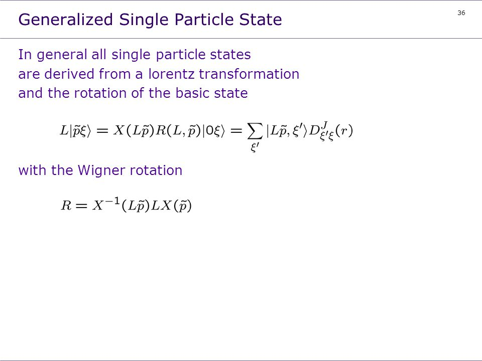 Generalized Single Particle State