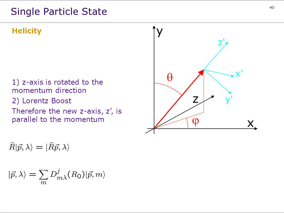 Single Particle State Helicity
