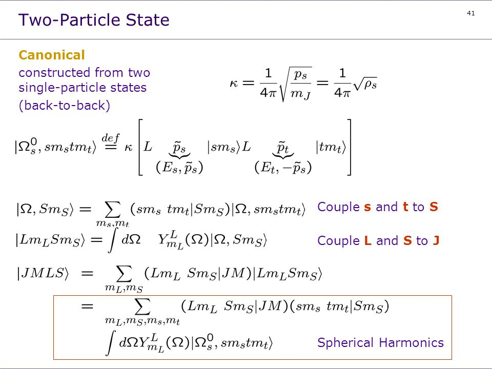 Two-Particle State Canonical