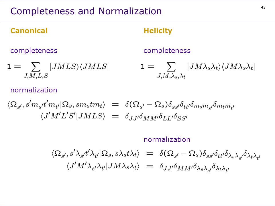 Completeness and Normalization