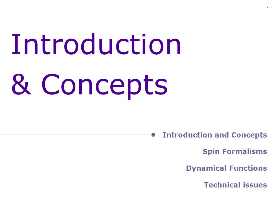 Header – Introduction and Concepts