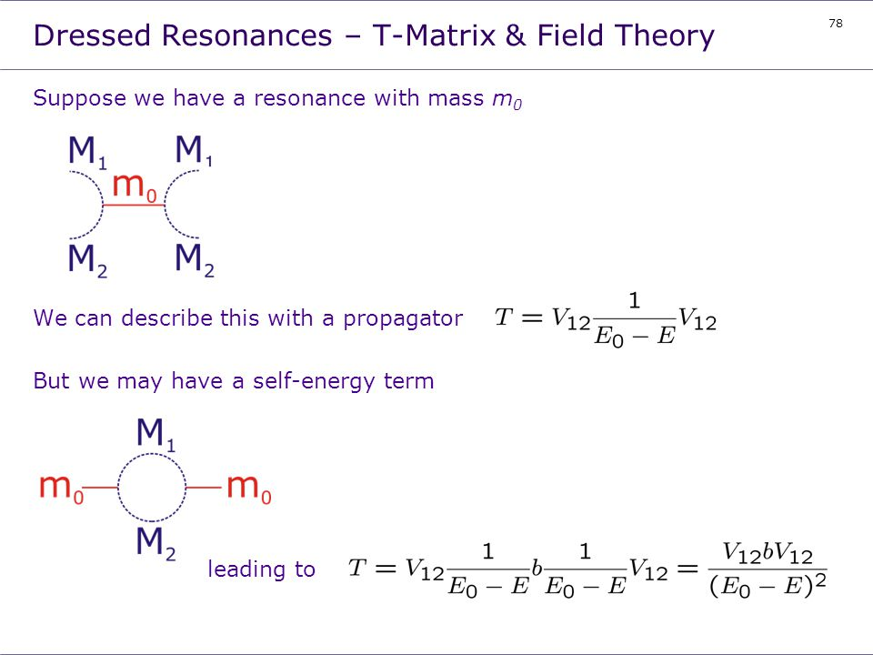 Dressed Resonances – T-Matrix & Field Theory