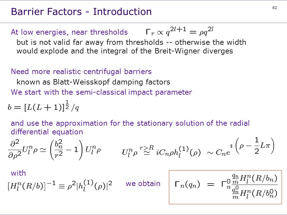 Barrier Factors - Introduction