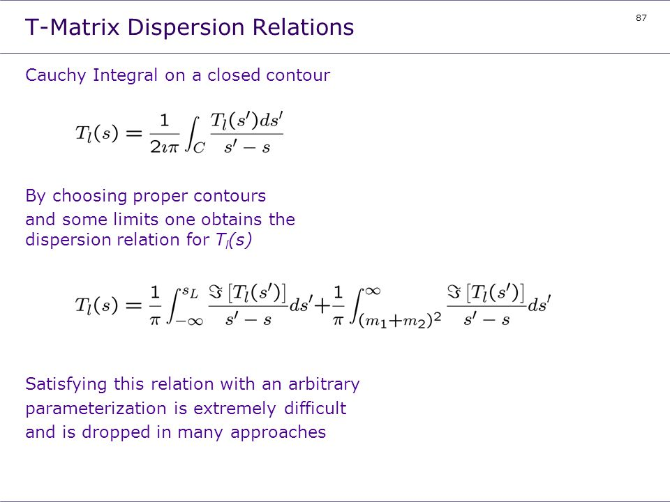 T-Matrix Dispersion Relations