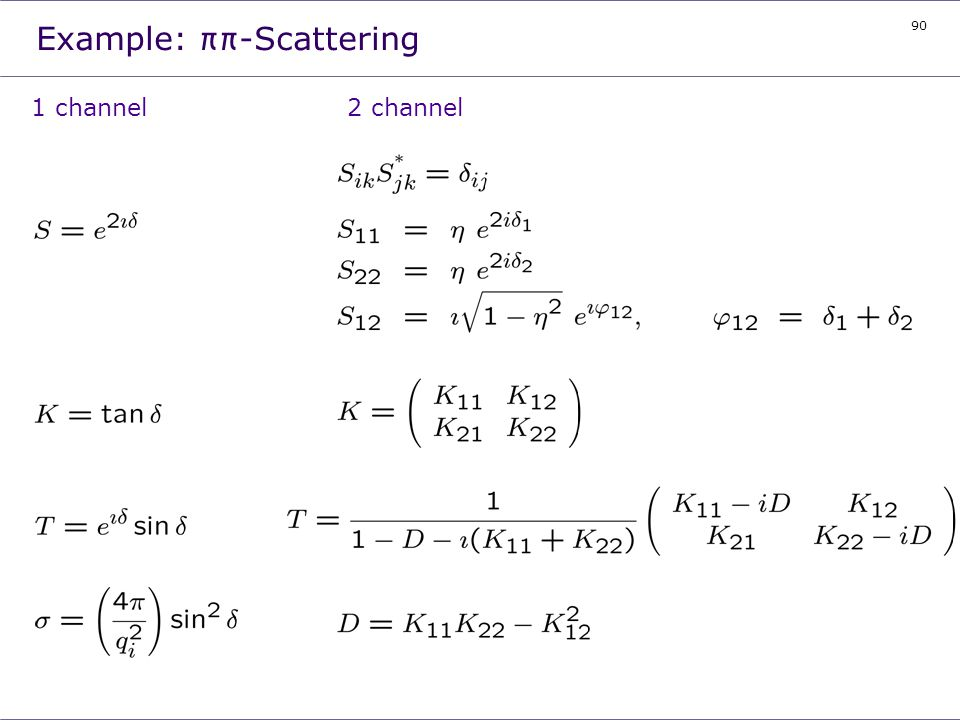 Example: ππ-Scattering