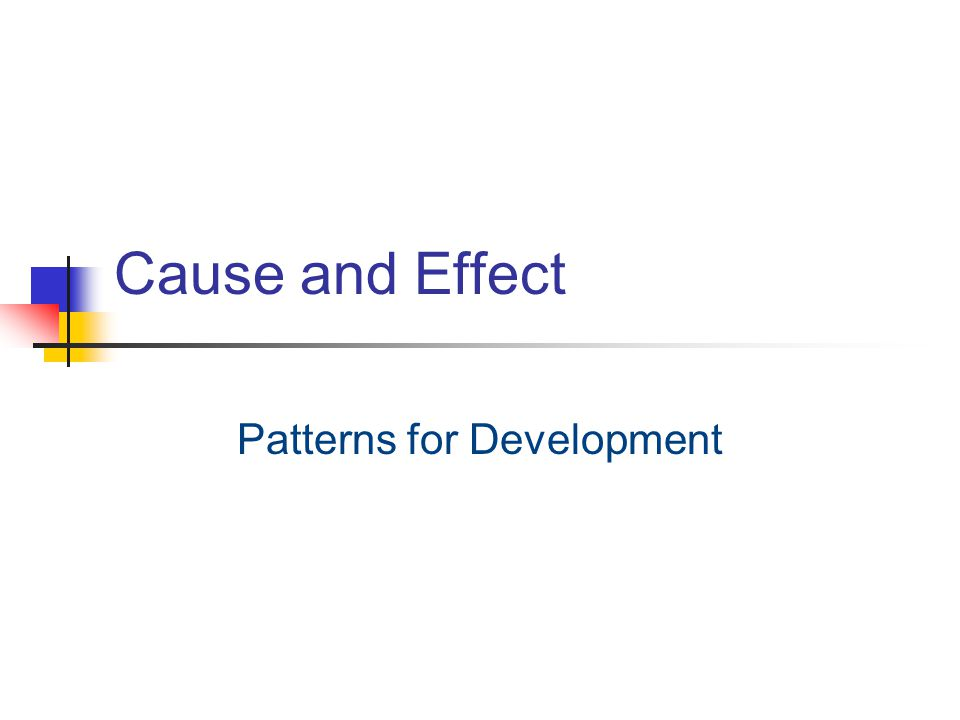 Patterns for Development