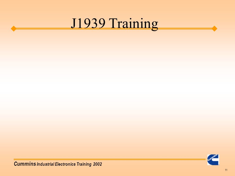 j1939 training agenda basic training  j1939 vocabulary