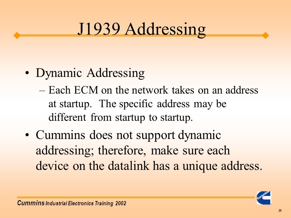 J1939 Addressing Dynamic Addressing