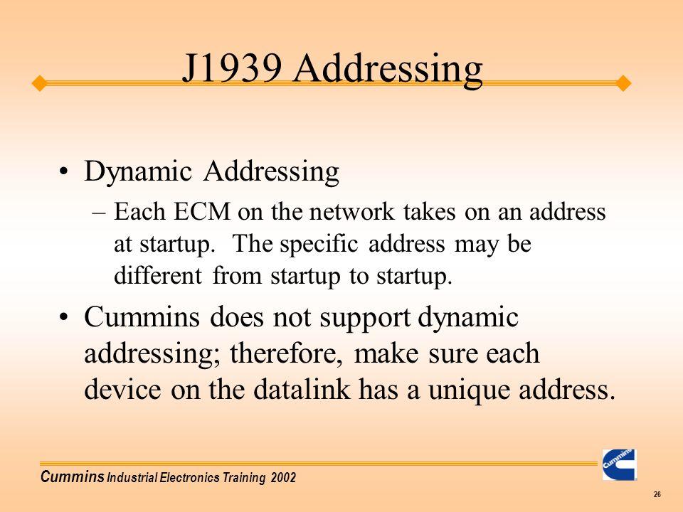 J1939 Addressing Dynamic Addressing