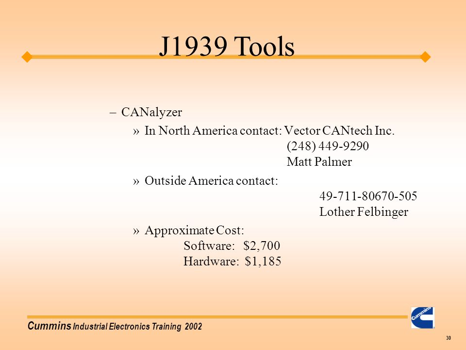 J1939 Tools CANalyzer.
