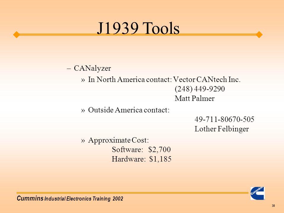J1939 Tools CANalyzer.