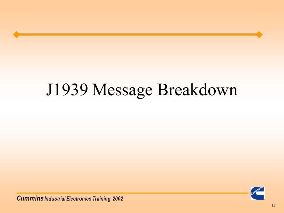 J1939 Message Breakdown