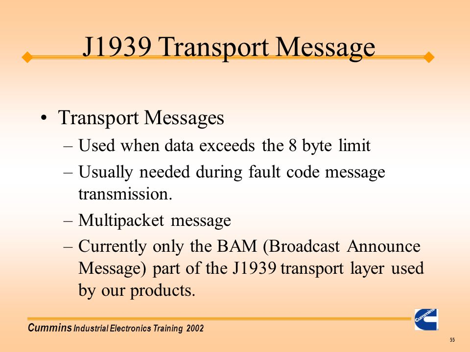 J1939 Transport Message Transport Messages