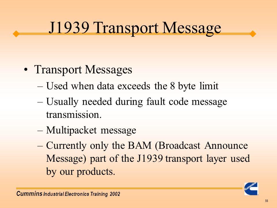 J1939 Transport Message Transport Messages