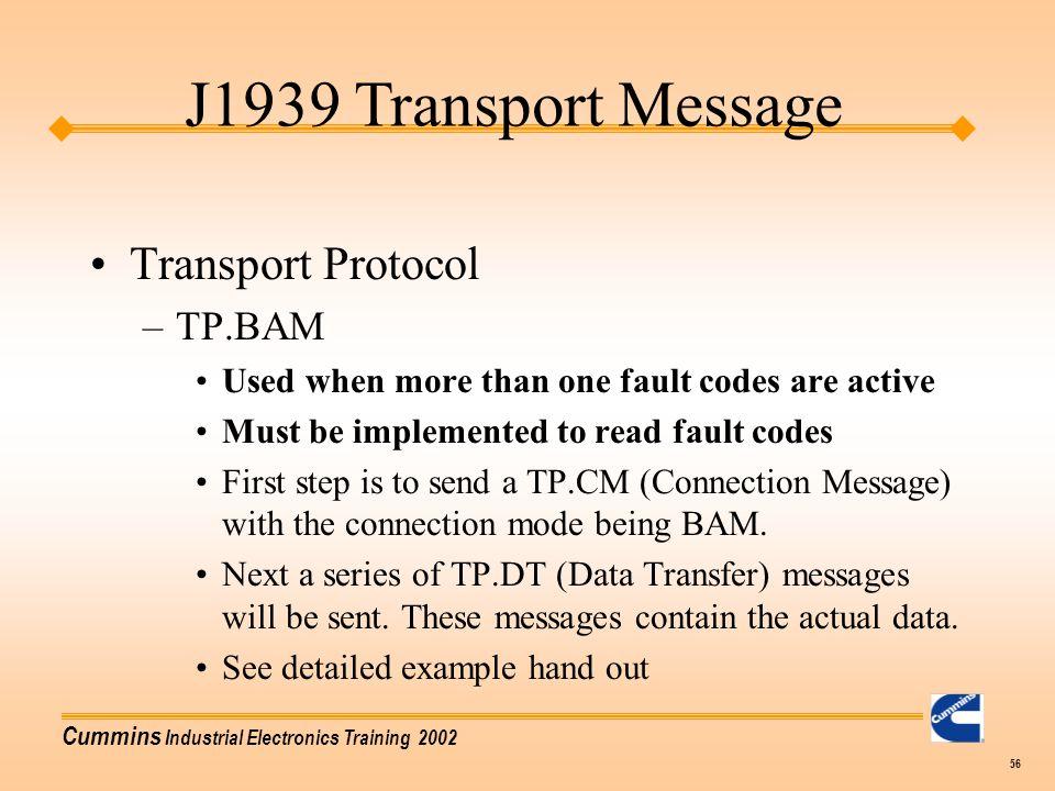 J1939 Transport Message Transport Protocol TP.BAM