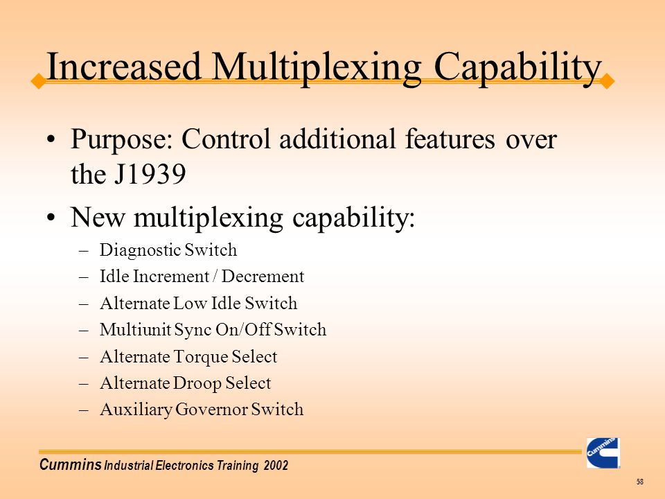 Increased Multiplexing Capability