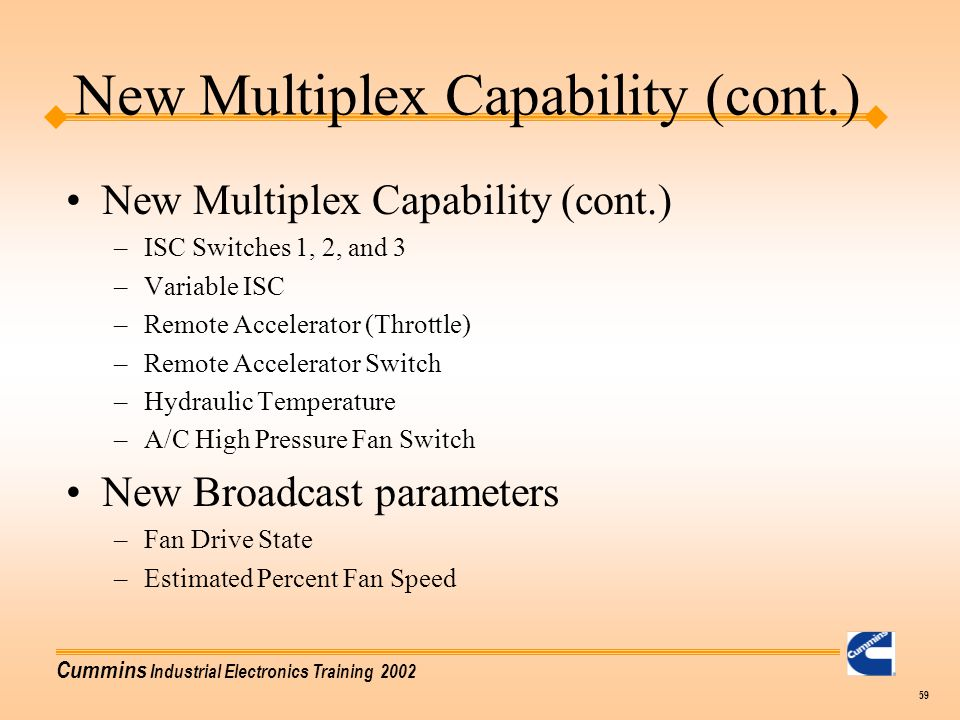 New Multiplex Capability (cont.)