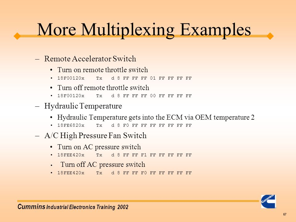 More Multiplexing Examples