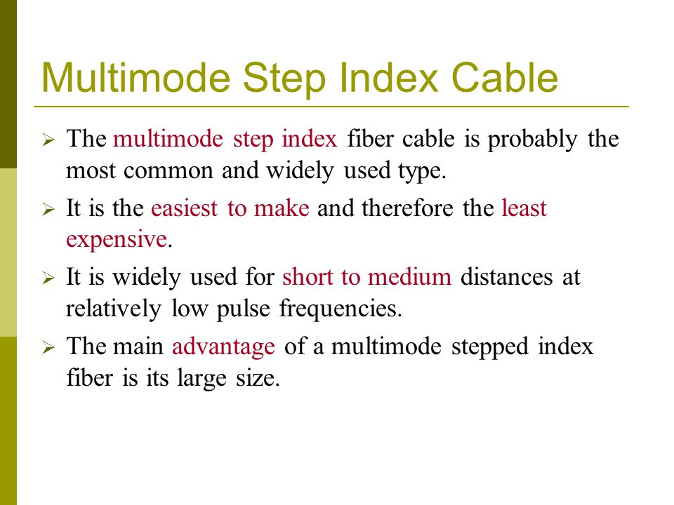 Multimode Step Index Cable