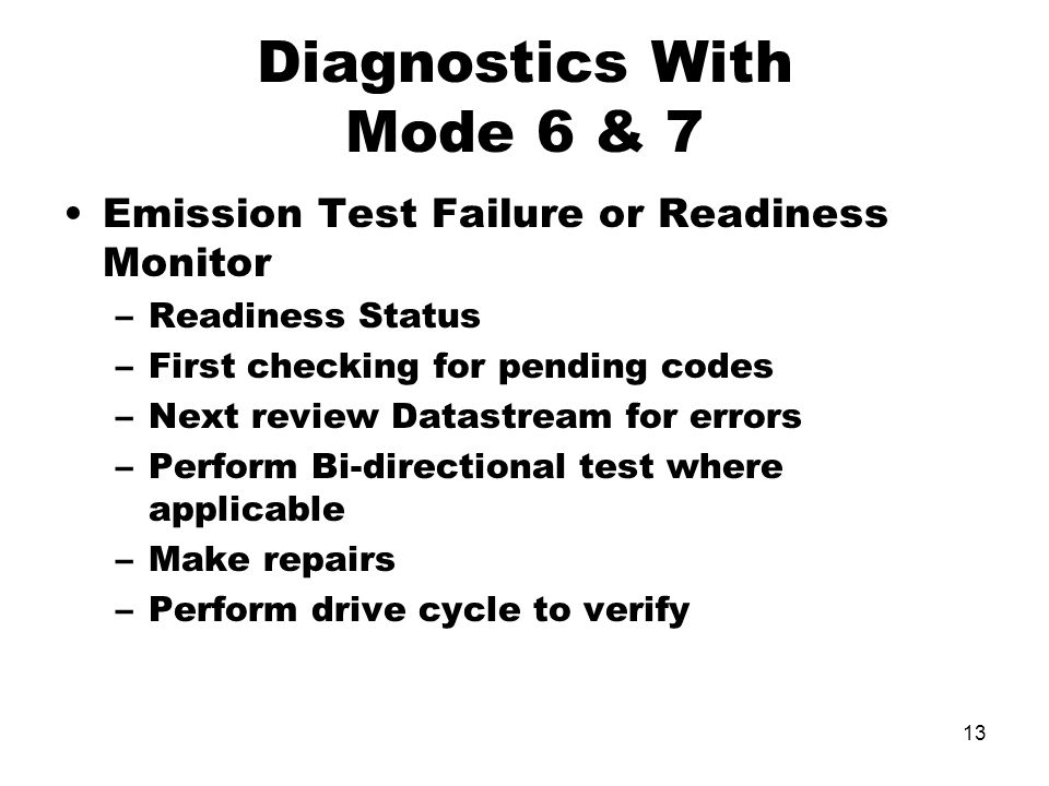 Diagnostics With Mode 6 & 7