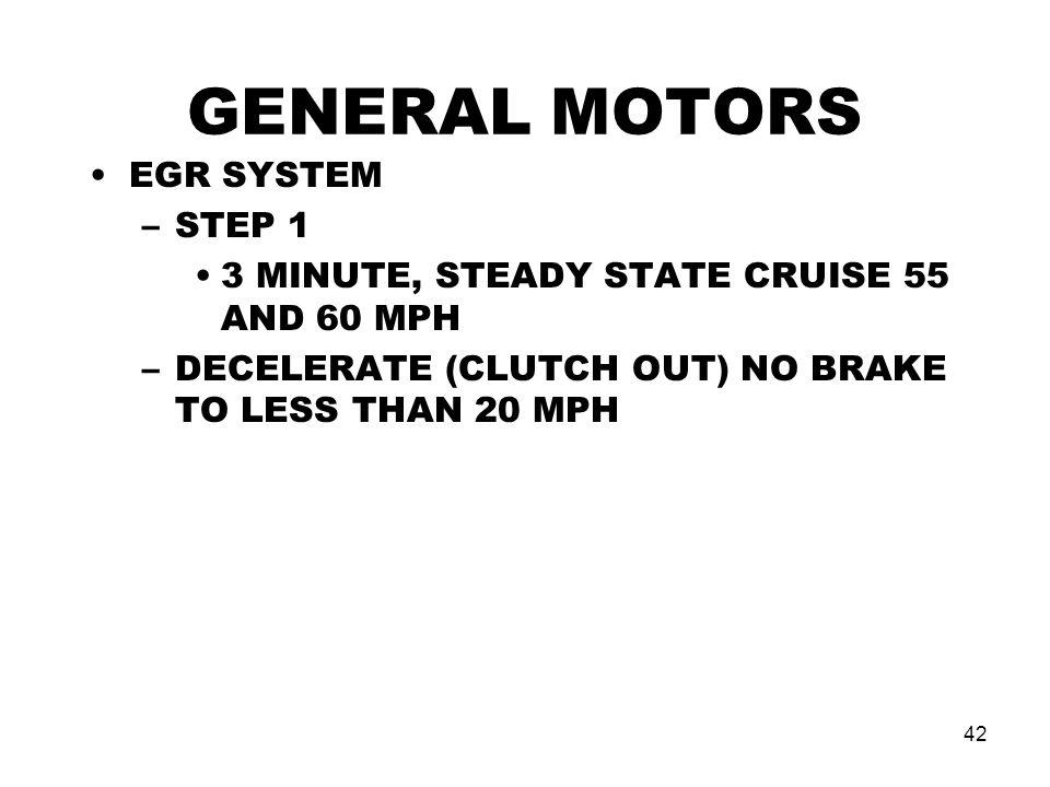 GENERAL MOTORS EGR SYSTEM STEP 1