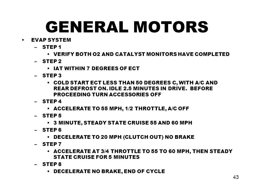 GENERAL MOTORS EVAP SYSTEM STEP 1