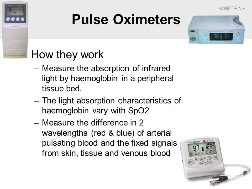 Pulse Oximeters How they work
