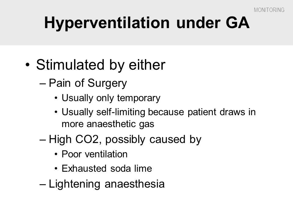 Hyperventilation under GA