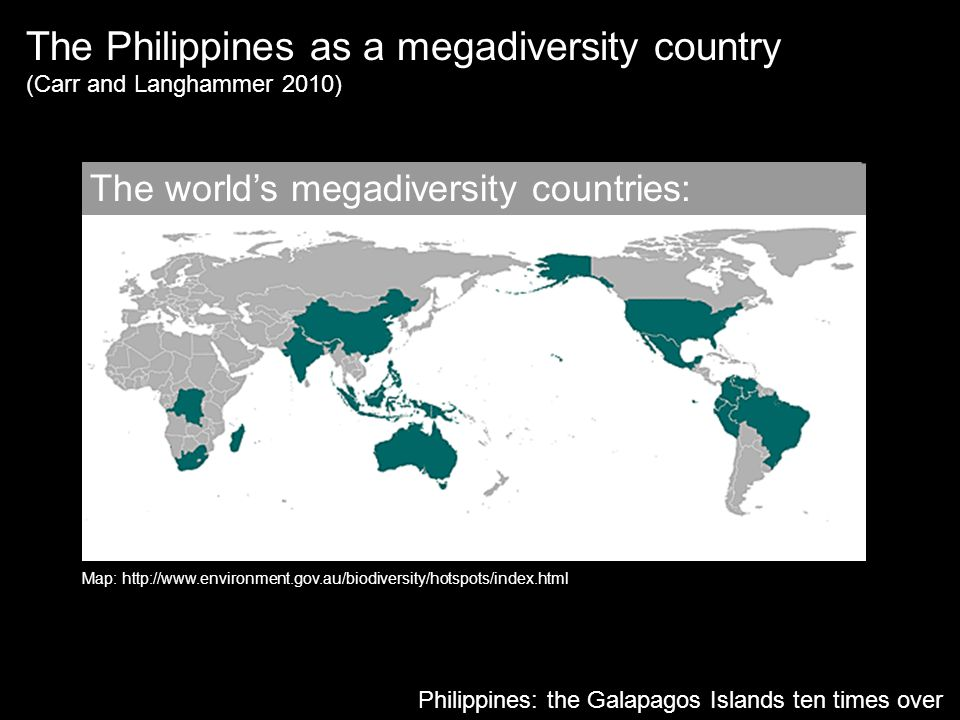 The Philippines as a megadiversity country