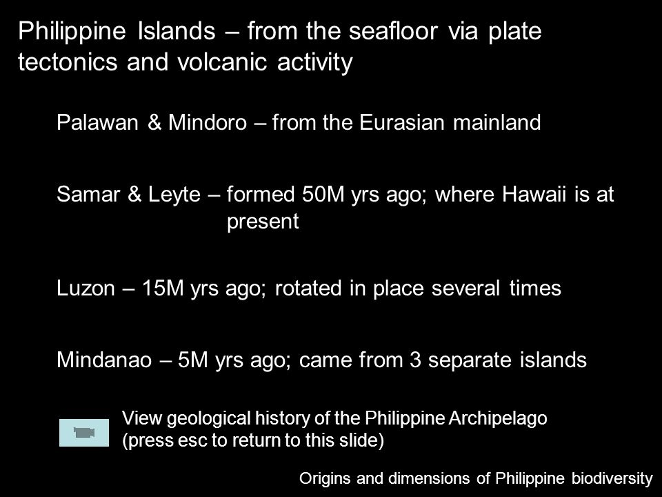 Philippine Islands – from the seafloor via plate tectonics and volcanic activity