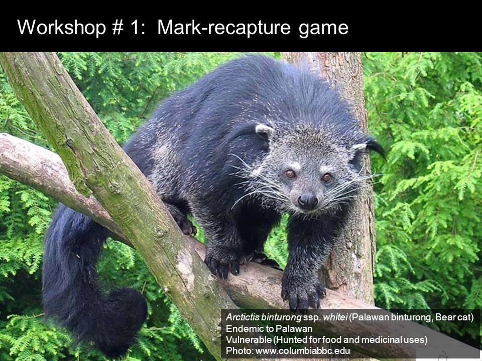 Workshop # 1: Mark-recapture game