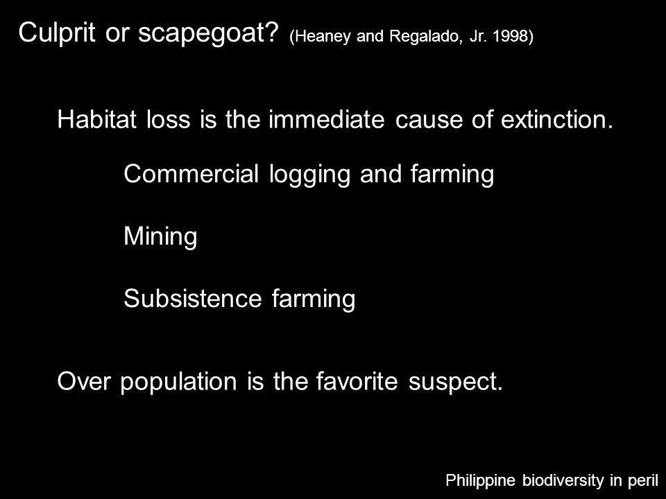 Culprit or scapegoat (Heaney and Regalado, Jr. 1998)