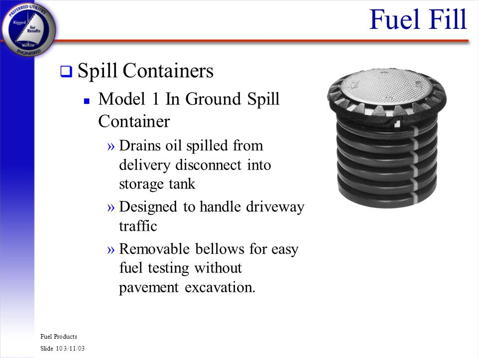 Fuel Fill Spill Containers Model 1 In Ground Spill Container