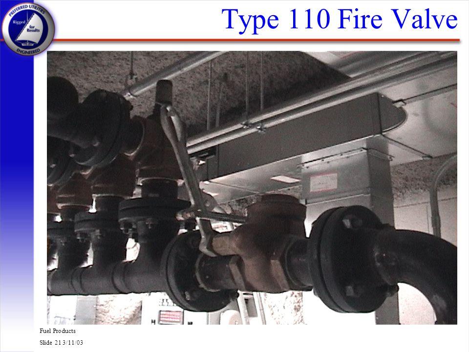 Type 110 Fire Valve